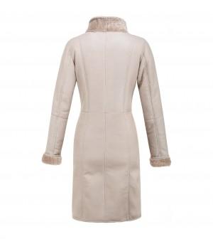 kożuch skórzany płaszcz damski