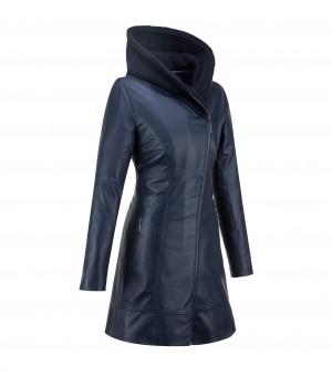 płaszcz skórzany damski tomskór