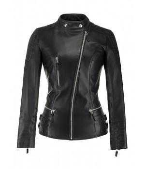 kurtka skórzana damska czarna