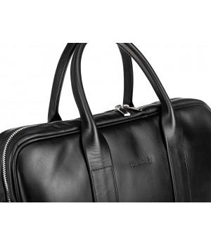 czarna torba skórzana