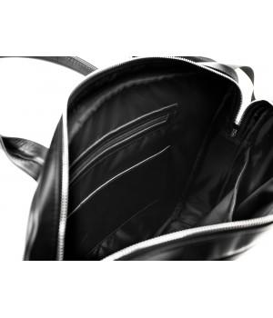 03e25116ec0e8 Torba Męska Czarna Tłoczona na Laptopa Kolor Czarny