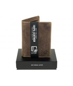 brązowy stylowy portfel męski