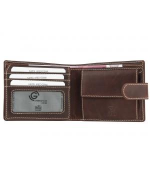 średni skórzany portfel męski