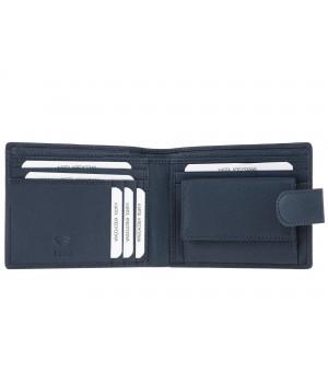 niebieski portfel męski