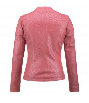 różowa kurtka skórzana tomskór