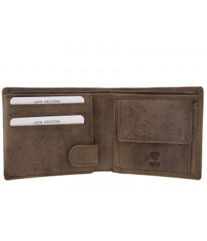 oryginalny skórzany portfel męski