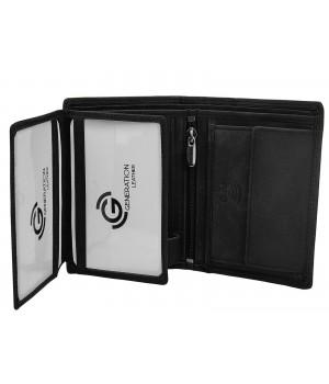 pojemny skórzany portfel