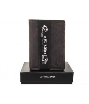 pojemny skórzany portfel męski