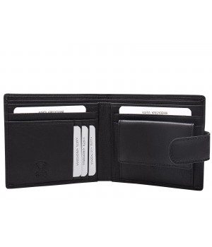 pojemny portfel skórzany