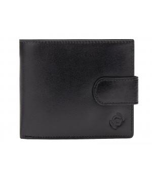Czarny męski skórzany portfel