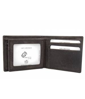 skórzany antyczny portfel