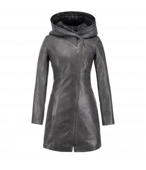 długi płaszcz skórzany damski