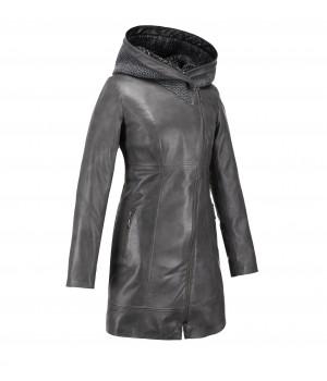 szary płaszcz damski roma