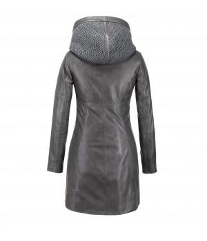ekskluzywny długi płaszcz skórzany tomskór