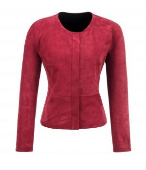 czerwona kurtka skórzana dwustronna