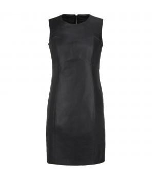 Skórzana sukienka czarna