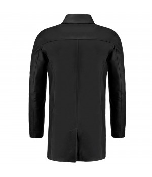 skórzany czarny płaszcz