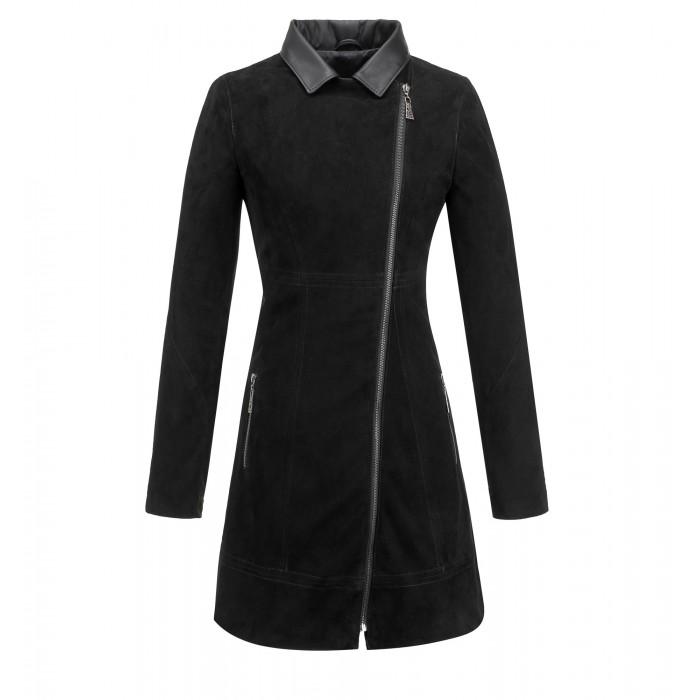 ekskluzywny płaszcz nubukowy tomskór