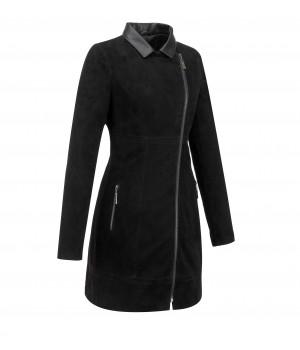 damski płaszcz z nubucku skórzany sklep internetowy