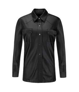 koszula skórzana czarna