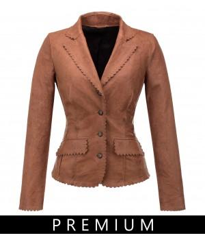 stylizowana kurtka skórzana damska