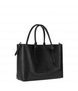 klasyczna torebka skórzana czarna