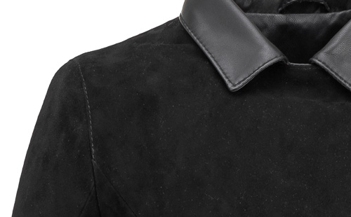 czarna kurtka skórzana nubukowa z nubucku
