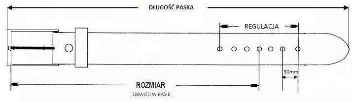 pasek skórzany tabela rozmiarów